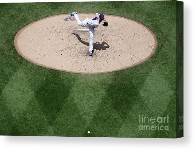 Jacob Degrom Canvas Print featuring the photograph Jacob Degrom by Michael Owens