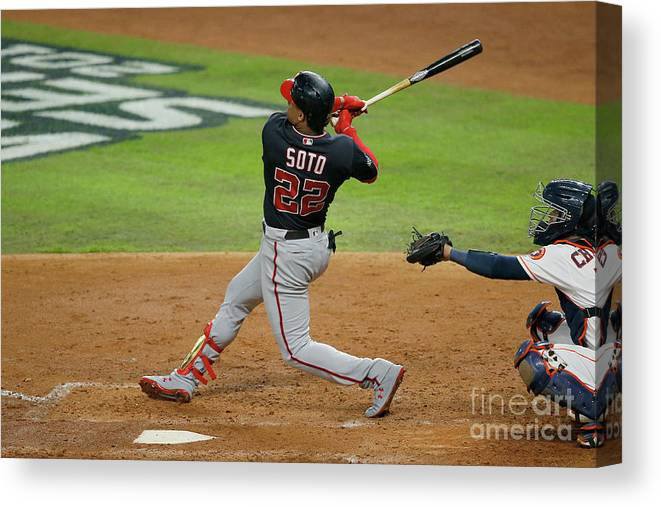 American League Baseball Canvas Print featuring the photograph Juan Soto by Bob Levey
