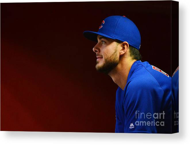 People Canvas Print featuring the photograph Kris Bryant by Jennifer Stewart