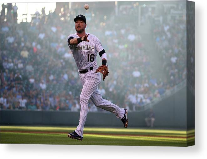 Second Inning Canvas Print featuring the photograph Kyle Parker And Jon Gray by Doug Pensinger