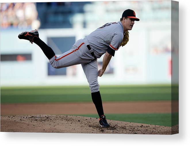 California Canvas Print featuring the photograph Matt Cain by Paul Spinelli
