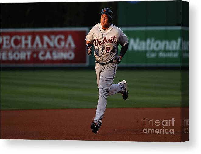 People Canvas Print featuring the photograph Miguel Cabrera by Sean M. Haffey