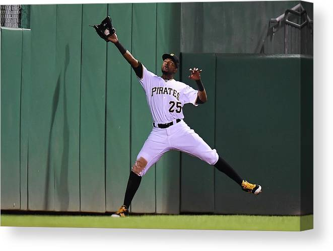 People Canvas Print featuring the photograph Miguel Montero And Gregory Polanco by Joe Sargent