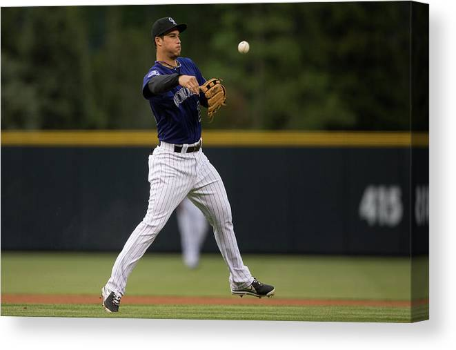 National League Baseball Canvas Print featuring the photograph Nolan Arenado by Justin Edmonds