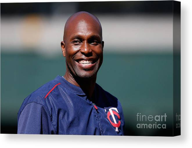 People Canvas Print featuring the photograph Torii Hunter by Lachlan Cunningham