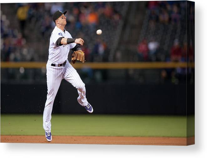 Ball Canvas Print featuring the photograph Troy Tulowitzki by Dustin Bradford