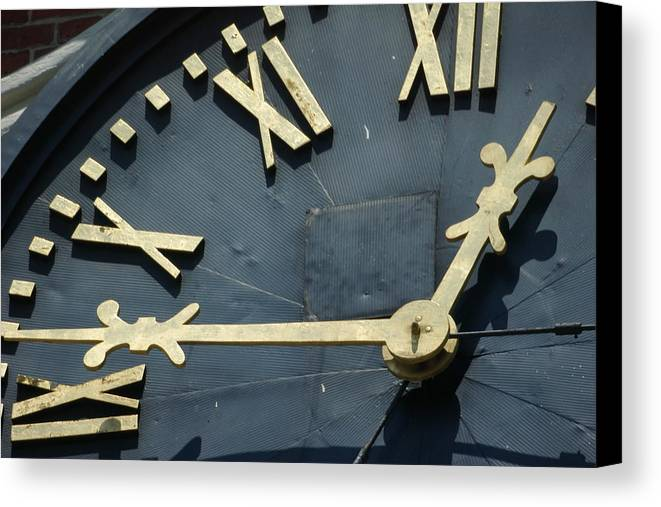 Clock Canvas Print featuring the photograph About Time by Eric Workman