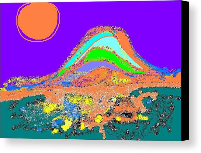 Canvas Print featuring the digital art Dawn II by Beebe Barksdale-Bruner