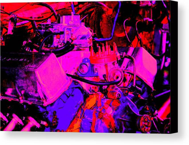 Engine Canvas Print featuring the digital art Engine by Lisa Johnston