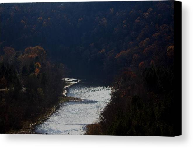Landscape Canvas Print featuring the photograph Little Red River by Lisa Johnston