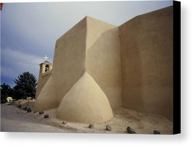 Church Canvas Print featuring the photograph San Francisco De Taos Two by Lynard Stroud