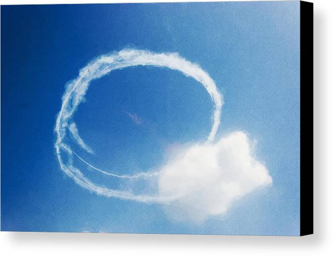 Chicago Canvas Print featuring the digital art 0036 - Air Show - Neo by David Lange