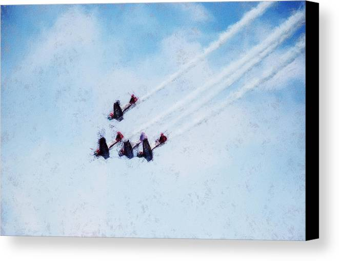 Chicago Canvas Print featuring the digital art 0161 - Air Show - Acanthus by David Lange