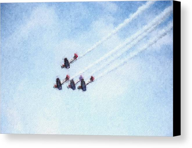 Chicago Canvas Print featuring the digital art 0161 - Air Show - Pastel Chalk 2 by David Lange