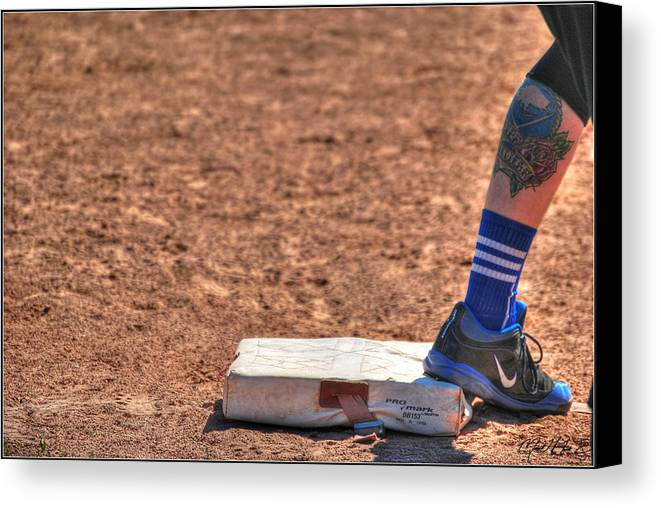Baseball Canvas Print featuring the photograph Coming Home by Michael Frank Jr
