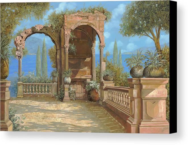 La Terrazza Sul Lago Canvas Print / Canvas Art by Guido Borelli