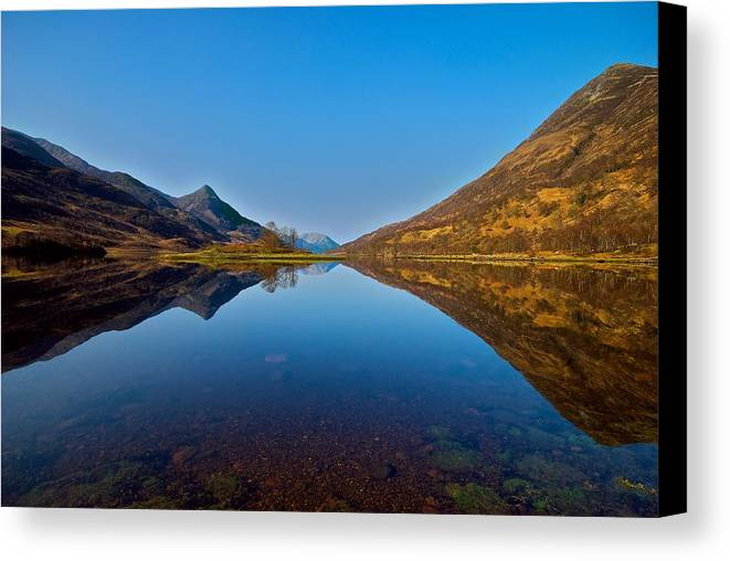 Scotland Canvas Print featuring the photograph Loch Leven by Stephen Taylor