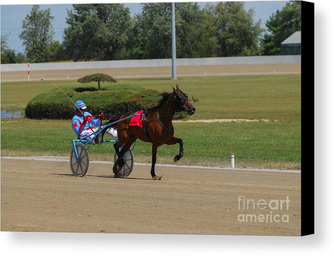 Scioto Downs Canvas Print featuring the photograph D39w-399 Scioto Downs by Ohio Stock Photography