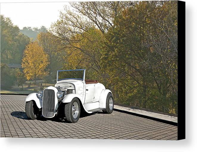 Coupe Canvas Print featuring the photograph 1930 Ford Roadster by Dave Koontz