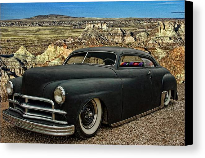 1949 Canvas Print featuring the photograph 1949 Plymouth Low Rider by Tim McCullough
