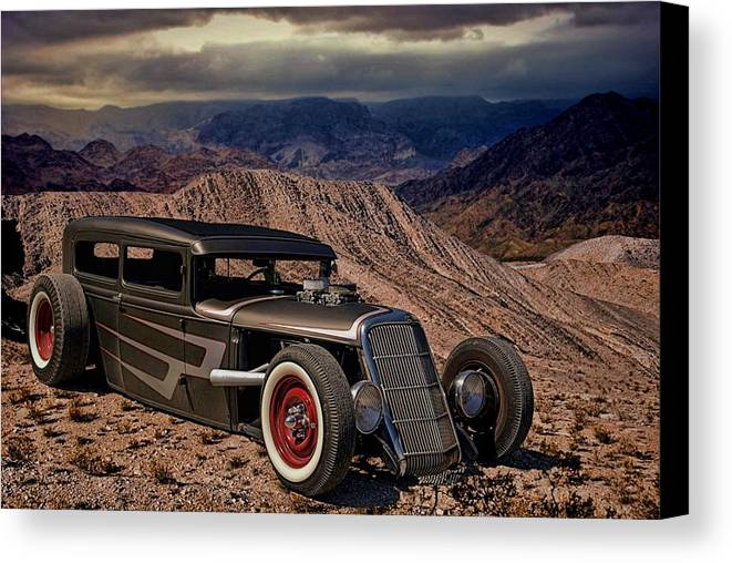 1931 Canvas Print featuring the photograph 1931 Ford Hot Rod Sedan by TeeMack