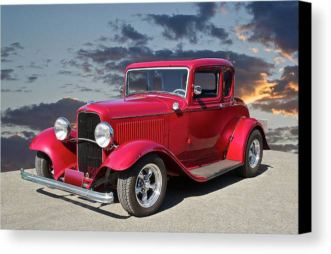 Coupe Canvas Print featuring the photograph 1932 Ford '5 Window' Coupe by Dave Koontz