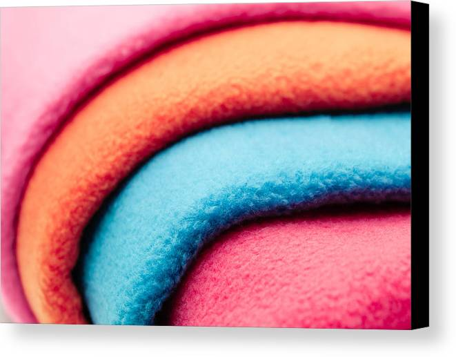 Abstract Canvas Print featuring the photograph Fleece by Tom Gowanlock