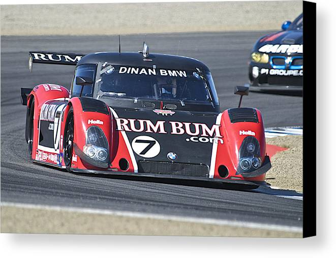 Auto Canvas Print featuring the photograph American Lemans Bmw Prototype by Dave Koontz