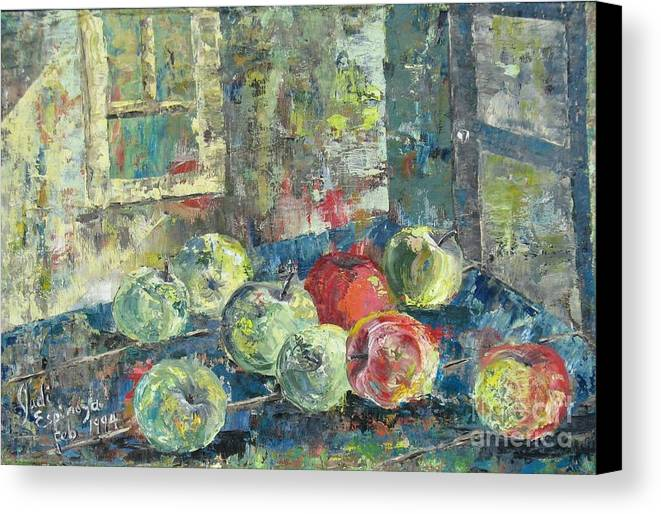 Apples Canvas Print featuring the painting Apples - Sold by Judith Espinoza