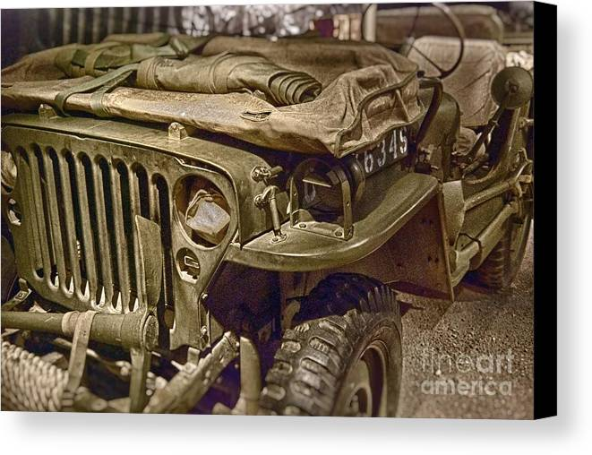 Army Canvas Print featuring the photograph Army Mule by Ken Williams