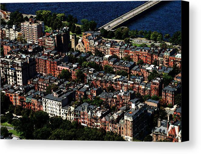 Boston Canvas Print featuring the photograph Back Bay by Charlie and Norma Brock