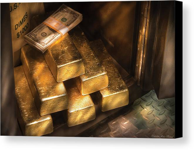 Savad Canvas Print featuring the photograph Banker - My Precious by Mike Savad