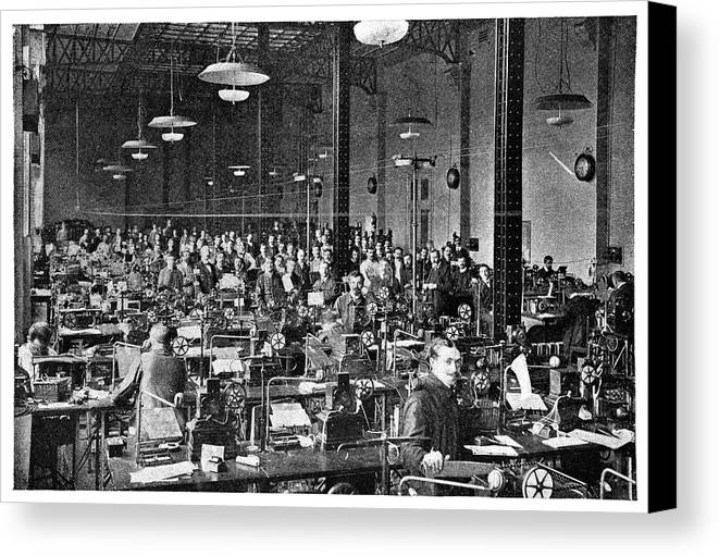 Equipment Canvas Print featuring the photograph Baudot Telegraph System by Science Photo Library