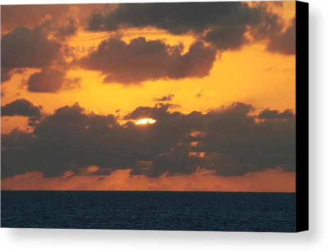 Sunset Canvas Print featuring the photograph Burnt Orange Sky by Lyndall Hamlett