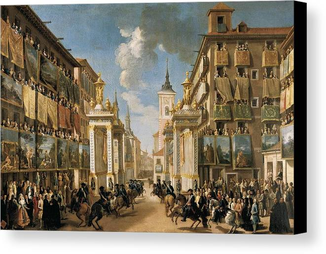 Horizontal Canvas Print featuring the photograph Decorations Of Plater�as Street by Everett