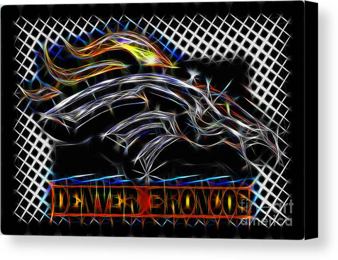 Denver Broncos Canvas Print featuring the digital art Denver Broncos 4 by Danny Campbell