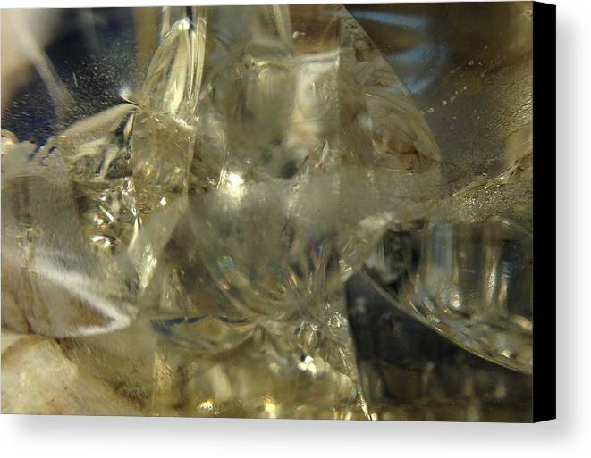 Glass Canvas Print featuring the photograph Depths Within by Gaby Tench