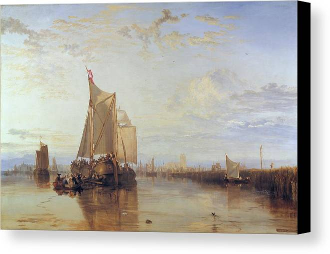 1818 Canvas Print featuring the painting Dort Or Dordrecht by JMW Turner