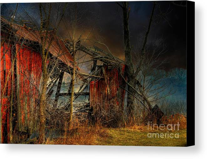 Dystopia Canvas Print featuring the photograph End Times by Lois Bryan
