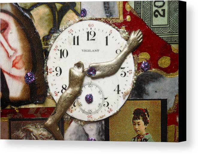 Mixed Media Canvas Print featuring the digital art Endless Time by Sherry Dooley