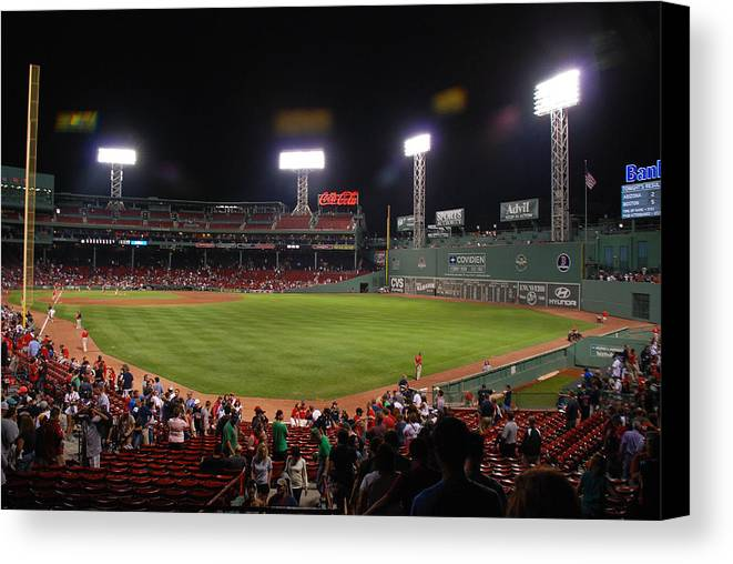 Fenway Park Canvas Print featuring the photograph Fenway Park by Mark Wiley