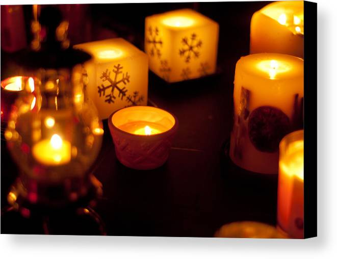 Candles Canvas Print featuring the photograph Festive Light by Pete Abbott