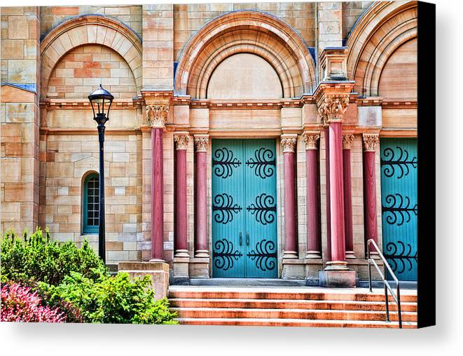 Finney Chapel Canvas Print featuring the photograph Finney Chapel Oberlin College by Mary Timman