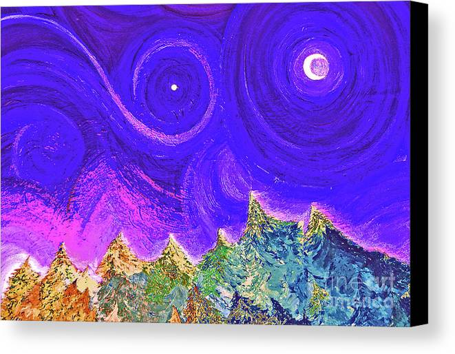 First Star Canvas Print featuring the painting First Star Sunrise by First Star Art