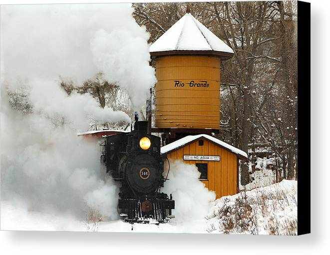 Colorado Railroad Museum Canvas Print featuring the photograph Full Steam Ahead by Ken Smith