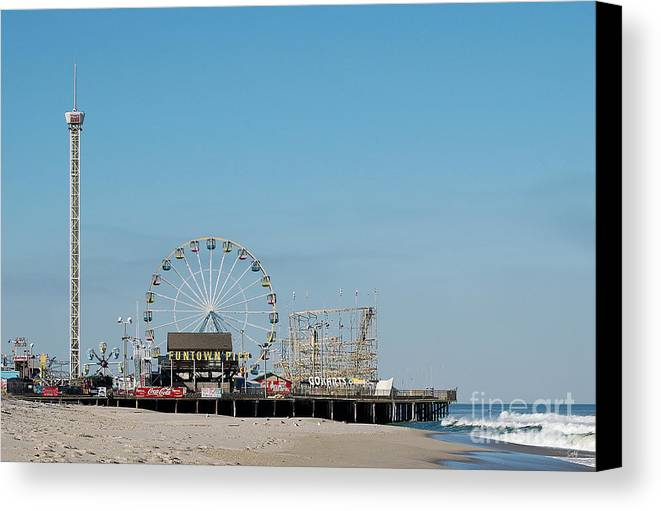 Landscape Canvas Print featuring the photograph Funtown Pier by Sami Martin