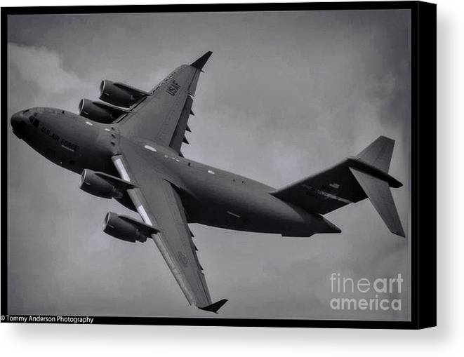 Boeing C-17 Globemaster Iii Canvas Print featuring the photograph Globemaster IIi by Tommy Anderson