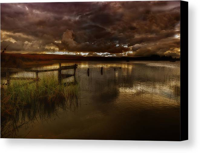 Landscape Canvas Print featuring the photograph Gloomy Waters by Chris Sutton
