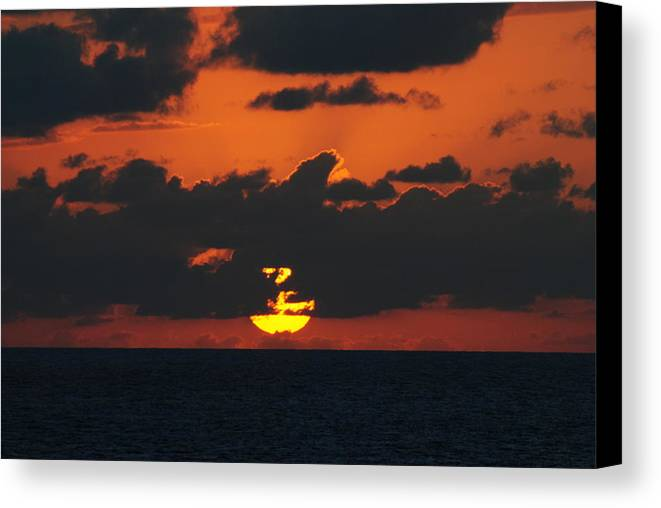 Sunset Canvas Print featuring the photograph Going 3 by Lyndall Hamlett
