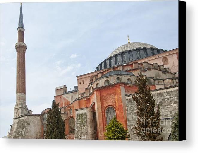 Turkey Canvas Print featuring the photograph Hagia Sophia 17 by Antony McAulay